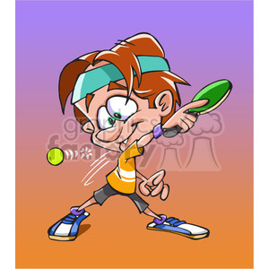 cartoon tennis male player