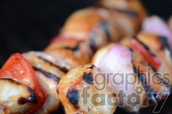chicken shish kabob photo. Royalty-free photo # 391234