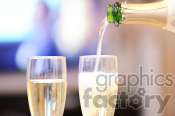 champagne pouring into glass clipart. Commercial use image # 391244