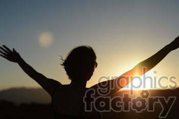 female hands raised photo. Royalty-free photo # 391284