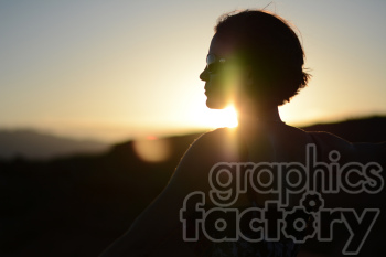 sunset silhouette photo. Royalty-free photo # 391294