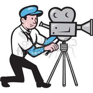 camera man vintage film camera clipart. Royalty-free image # 391364