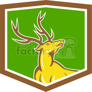 reindeer jumping logo clipart. Commercial use image # 391374