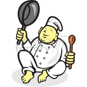 chef buddha sitting clipart. Commercial use image # 391404