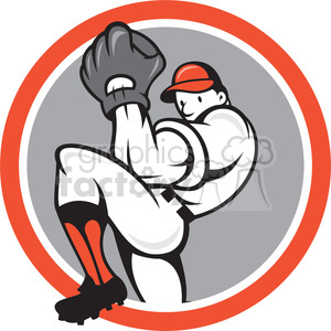 baseball pitcher front pitching clipart. Commercial use image # 391434