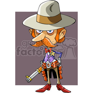 cartoon funny comic comical western cowboy sheriff law police justice