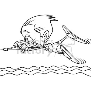 summer water fun wake boarding clipart. Commercial use image # 391487
