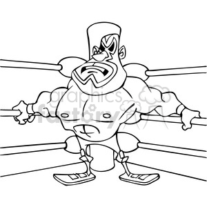 lucha libre Mexican wrestler drawing clipart. Royalty-free image # 391497