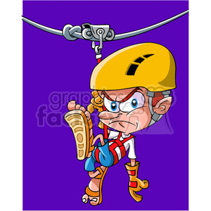 zip line accident stuck on line clipart. Commercial use image # 391507