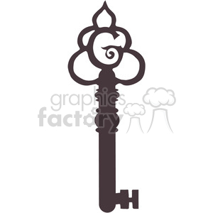 Barrel Key G clipart. Royalty-free image # 391626