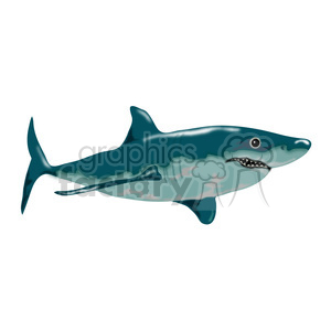 Shark 01 clipart. Royalty-free image # 391587