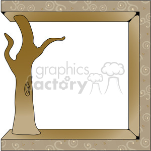 tree frame clipart. Royalty-free image # 391624