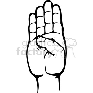 sign language letter B clipart. Royalty-free image # 167490
