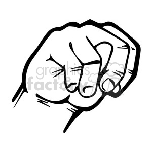 Sign language letter N clipart. Royalty-free image # 391649