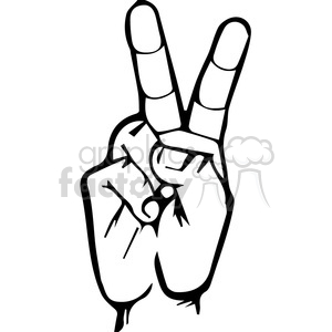 sign language letter V clipart. Royalty-free image # 167510