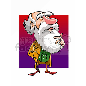 Charles Darwin cartoon caricature clipart. Commercial use image # 391700