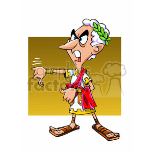 Emperador Romano cartoon caricature clipart. Commercial use image # 391710