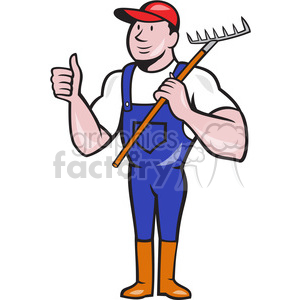 gardener rake thumbs up shape clipart. Commercial use image # 392442