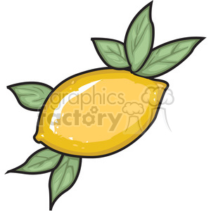 vector lemon clipart. Royalty-free image # 146640