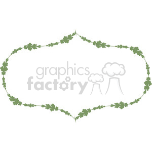 green floral frame swirls boutique design border 16 clipart. Royalty-free image # 392451