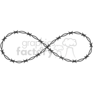 infinity symbol vector barbed wire metal tattoo clipart. Commercial use image # 392462