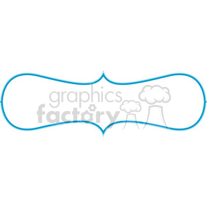 blue lines frame swirls boutique design border 8 clipart. Royalty-free image # 392469