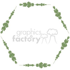green floral frame swirls boutique design border 2 clipart. Royalty-free image # 392474
