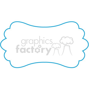 blue lines frame swirls boutique design border 10 clipart. Royalty-free image # 392492