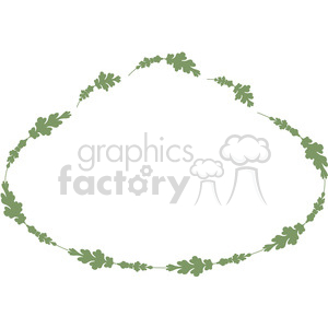 green floral frame swirls boutique design border 14 clipart. Royalty-free image # 392498