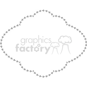 heart frame swirls boutique design border 7 clipart. Royalty-free image # 392503