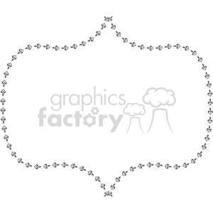 heart frame swirls boutique design border 6 clipart. Royalty-free image # 392508