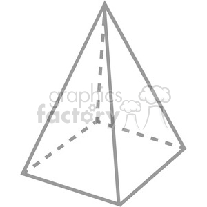 geometry 4 sided pyramid math clip art graphics images clipart. Commercial use image # 392517