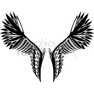 vinyl ready vector wing tattoo design 005 clipart. Royalty-free image # 392690