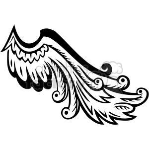vinyl ready vector wing tattoo design 087 clipart. Commercial use image # 392710