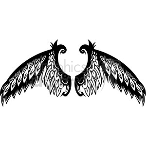 vinyl ready vector wing tattoo design 046 clipart. Commercial use image # 392720