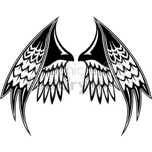 vinyl ready vector wing tattoo design 028 clipart. Commercial use image # 392730