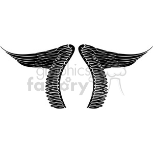 vinyl ready vector wing tattoo design 022 clipart. Commercial use image # 392740