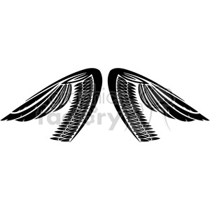vinyl ready vector wing tattoo design 039 clipart. Royalty-free image # 392750