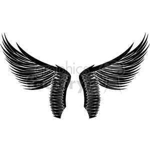 vinyl ready vector wing tattoo design 066 clipart. Royalty-free image # 392760