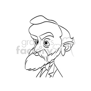 alfred nobel black white clipart. Royalty-free image # 392880