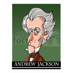 andrew jackson color clipart. Commercial use image # 392890