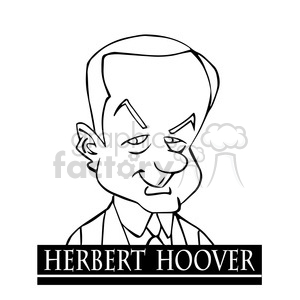 celebrity famous cartoon editorial-only people funny caricature herbert+hoover president 31st