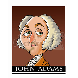 celebrity famous cartoon editorial-only people funny caricature john+adams president 2nd