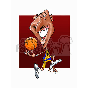 Kobe Bryant cartoon clipart. Royalty-free image # 392988