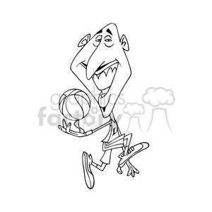 kobe bryant black white clipart. Commercial use image # 393008