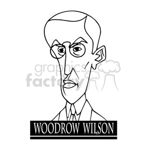 celebrity famous cartoon editorial-only people funny caricature woodrow+wilson president 28th