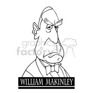 william mckinley black white clipart. Royalty-free image # 393058