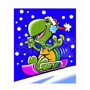 turtle cartoon character clipart. Royalty-free image # 393237