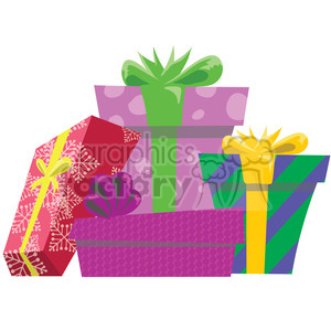 christmas presents 1 clipart. Royalty-free image # 393413