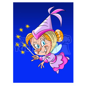 cartoon tooth fairy clipart. Royalty-free image # 393461